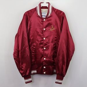Vintage 80s Stroh's Beer Spell Out Satin Jacket